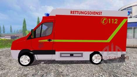 Volkswagen Crafter Rettungsdienst for Farming Simulator 2015