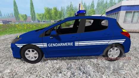 Peugeot 308 Gendarmerie for Farming Simulator 2015