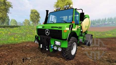 Mercedes-Benz Unimog [Krone round baler] for Farming Simulator 2015