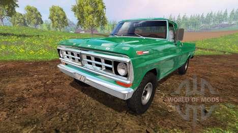 Ford F-100 1970 4x4 for Farming Simulator 2015