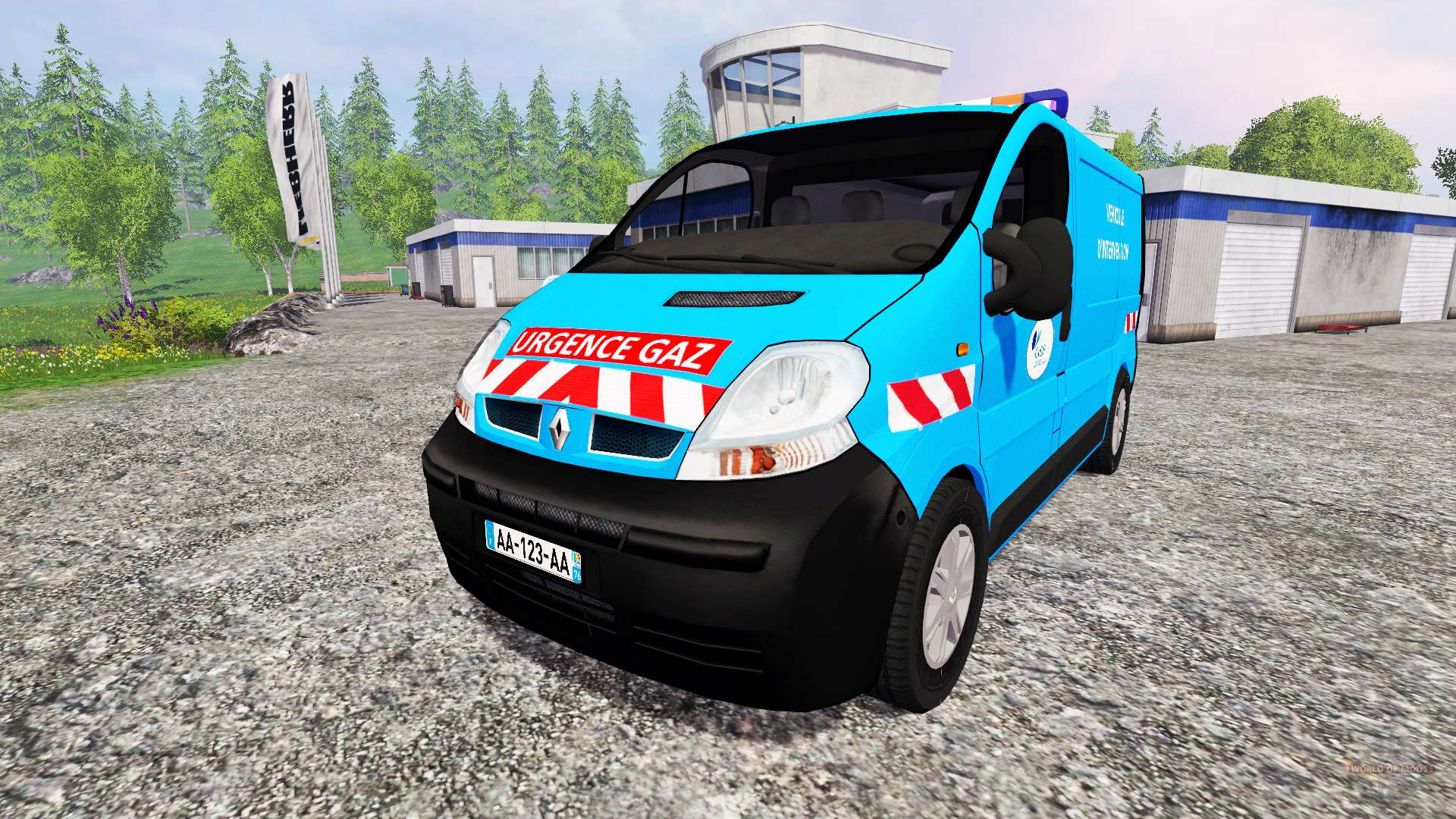renault trafic urgence gaz v2 0 for farming simulator 2015. Black Bedroom Furniture Sets. Home Design Ideas