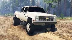 Chevrolet Silverado Dually Crew Cab 1986 for Spin Tires