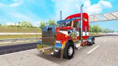 Metallic skin for the Kenworth W900 tractor for American Truck Simulator