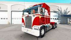 Skin White & Red for the tractor Kenworth K100 for American Truck Simulator