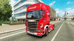Skin Coca-Cola on the tractor Scania for Euro Truck Simulator 2