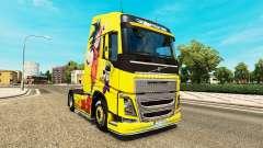 Skin Dragon Ball Z for Volvo trucks for Euro Truck Simulator 2