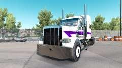 Skin White&Purple for the truck Peterbilt 389 for American Truck Simulator