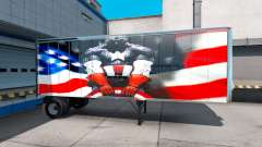 Skin Super Hero on the semi-trailer for American Truck Simulator