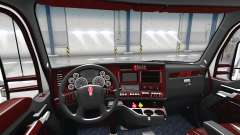The Deluxe black interior Kenworth T680 for American Truck Simulator