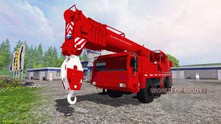 Liebherr LTM 1090 Sapeur Pompiers v1.2 for Farming Simulator 2015