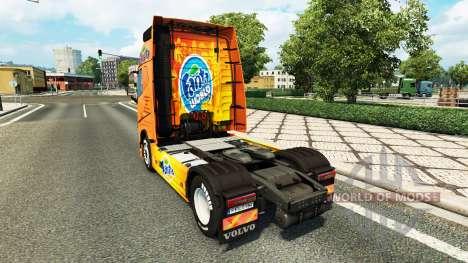 Fanta skin for Volvo truck for Euro Truck Simulator 2