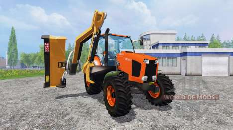 Kubota M135GX [mount mower] for Farming Simulator 2015
