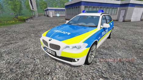 BMW 520d Police for Farming Simulator 2015