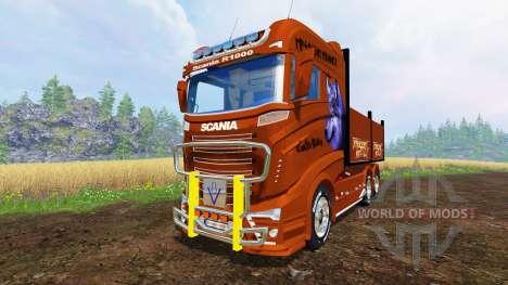 Scania R1000 [flatbed] for Farming Simulator 2015