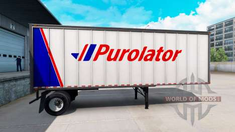 Collection of 60 skins for trailers for American Truck Simulator