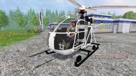 Sud-Aviation Alouette II for Farming Simulator 2015