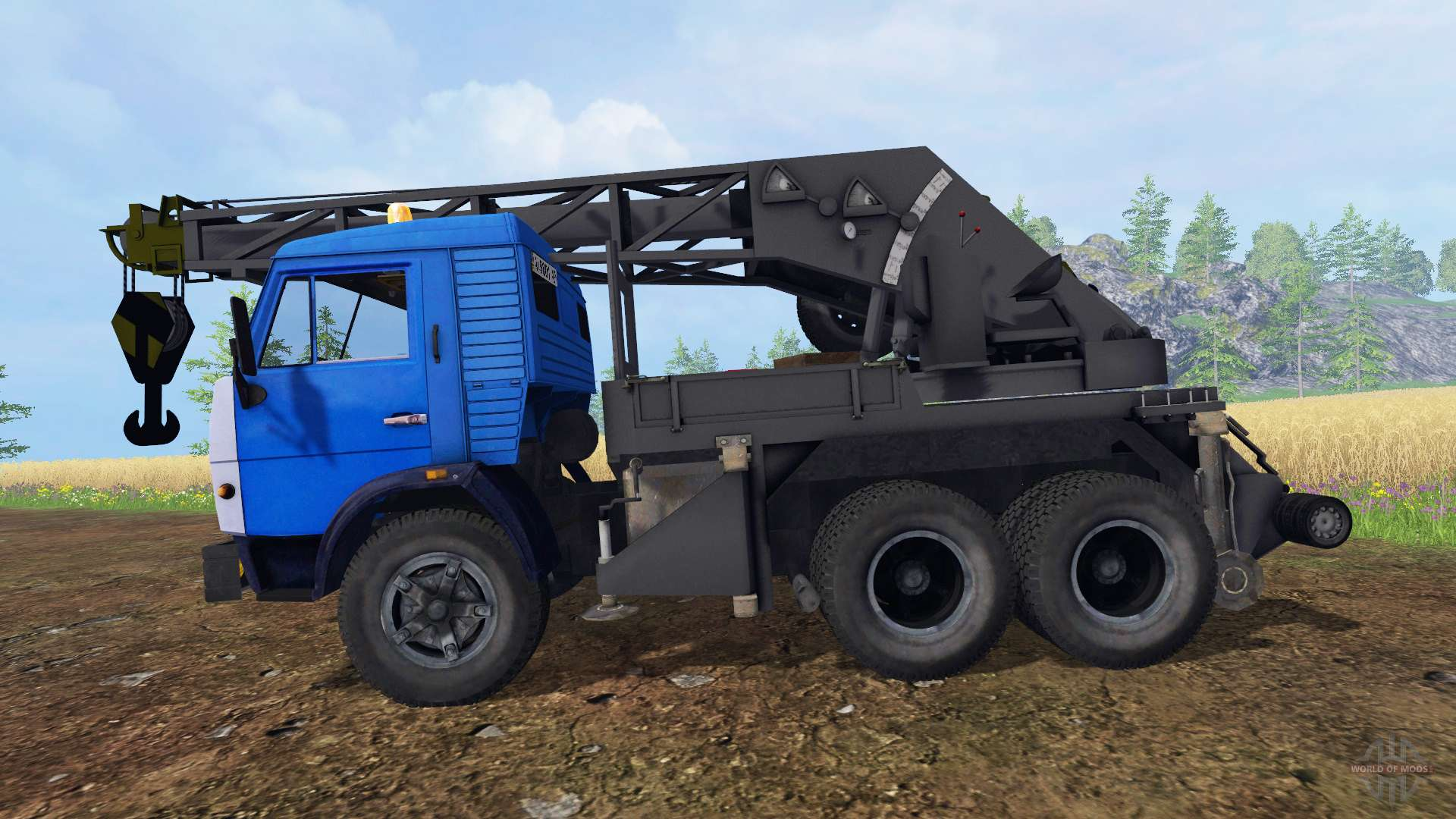 Kamaz Crane For Farming Simulator 2015