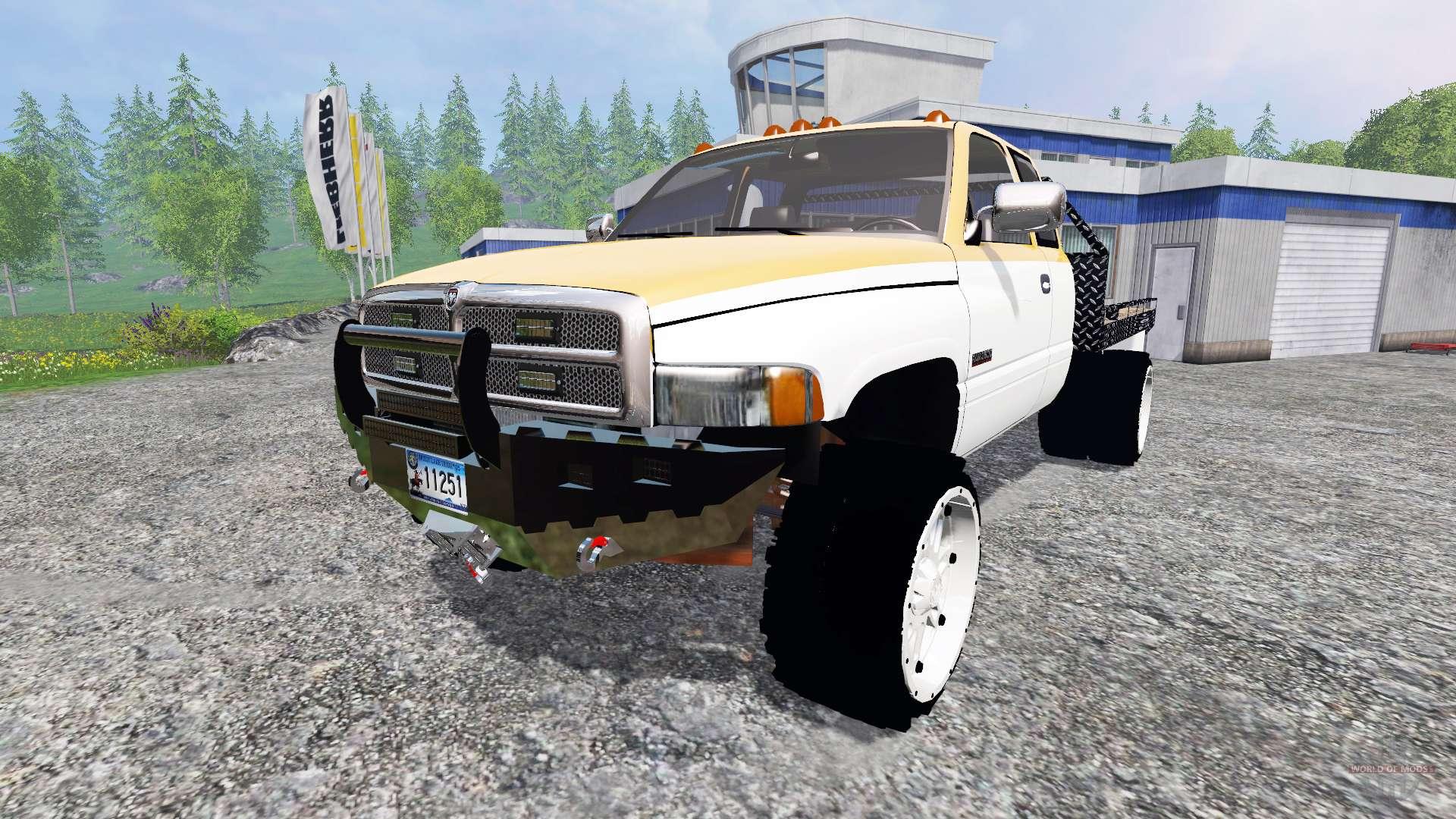 dodge ram 2500  flatbed  for farming simulator 2015