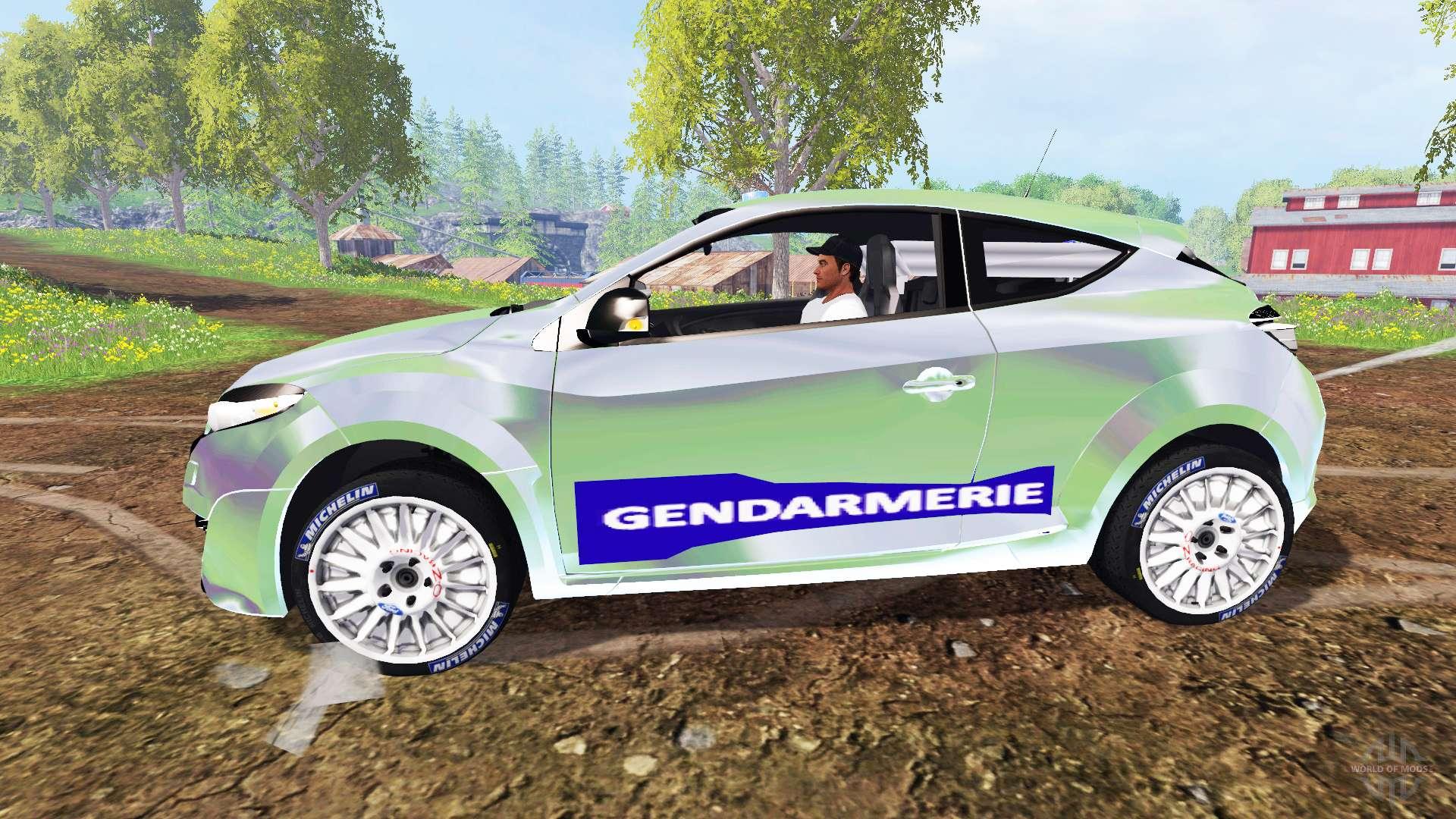renault megane rs gendarmerie for farming simulator 2015. Black Bedroom Furniture Sets. Home Design Ideas