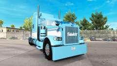 Skin Light Blue-White for the truck Peterbilt 389 for American Truck Simulator
