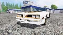 Pontiac Firebird Trans Am 1977 for Farming Simulator 2015