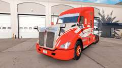 The skin of the Red Stripe on the truck Kenworth for American Truck Simulator