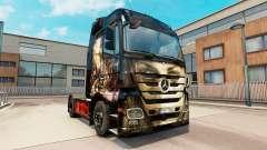 Luis Royo skin for Mercedes truck Benz for Euro Truck Simulator 2