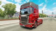 Skin Inter-Trans on the tractor Scania for Euro Truck Simulator 2