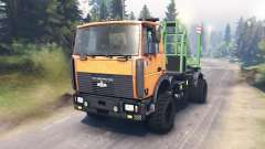MAZ-5434 for Spin Tires