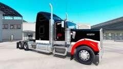 Skin Netstoc Logistica on the truck Kenworth W900 for American Truck Simulator