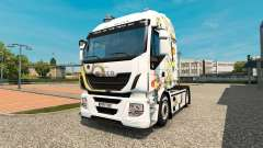 The Minions skin for Iveco tractor unit for Euro Truck Simulator 2