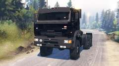KamAZ-65221 for Spin Tires