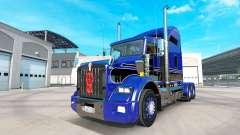 Skin Blue-black on the truck Kenworth T800 for American Truck Simulator