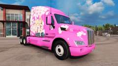 Sakura skin for the truck Peterbilt for American Truck Simulator