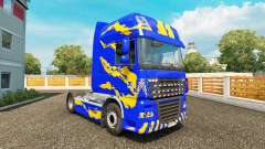 Skin Blue-yellow-for DAF truck for Euro Truck Simulator 2