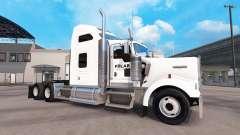 Skin on a Polar Industries truck Kenworth W900 for American Truck Simulator