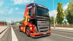 Manchester United skin for Volvo truck for Euro Truck Simulator 2