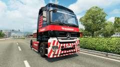 Mammoet skin for the truck Mercedes-Benz for Euro Truck Simulator 2
