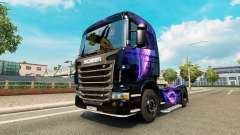 The Black and Purple skin for Scania truck for Euro Truck Simulator 2