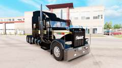 Skin Silver-black for the truck Peterbilt 389 for American Truck Simulator