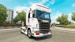 A skin of Superman for Scania truck for Euro Truck Simulator 2