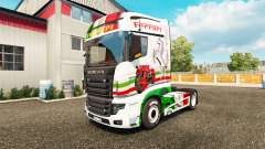 Ferrari skin for Scania R700 truck for Euro Truck Simulator 2