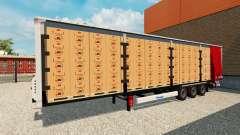 Trailer curtain Krone for Euro Truck Simulator 2