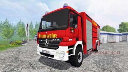Mercedes-Benz Actros 4141 [feuerwehr] for Farming Simulator 2015