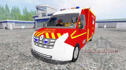Renault Master 2016 [sapeurs-pompiers] for Farming Simulator 2015