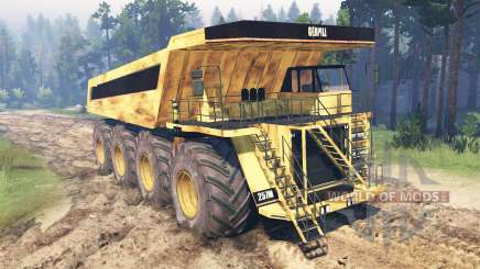 Mining truck for Spin Tires