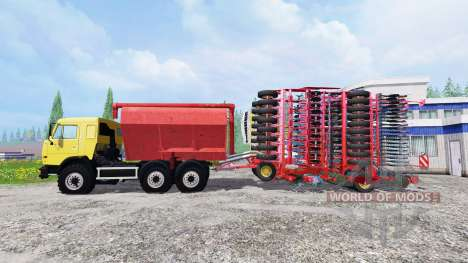 KamAZ-54115 with loader planters and a planter for Farming Simulator 2015
