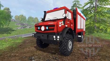 Mercedes-Benz Unimog U5023 [feuerwehr] for Farming Simulator 2015