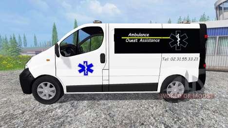 Renault Trafic Ambulance for Farming Simulator 2015