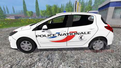 Peugeot 308 [police nationale] for Farming Simulator 2015